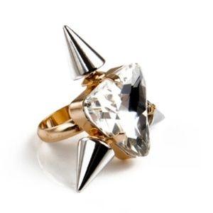 Noir Triple Spike Highlighter Ring